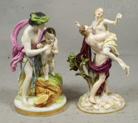 Meissen Figural Group Of Maiden Being Carried Off