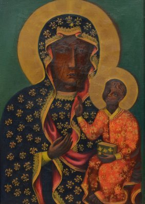 Byzantine Style Icon (20th Century), Oil On Canvas,
