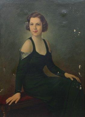American School (20th Century), Oil On Canvas, Portrait