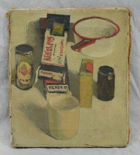 American School (20th Century), Oil On Canvas, Kitchen