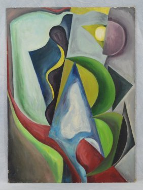 Florence Kunstler (american, Ny, 1914-2006), Oil On