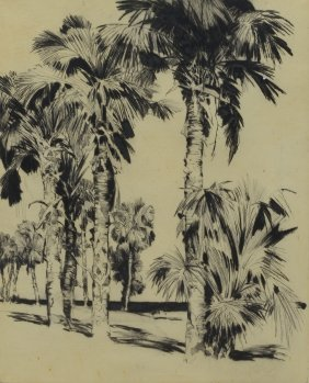 Alfred Hutty (american, 1877-1954), Etching, Palm