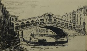 Margaret Wright (american, 1869-1936), Etching, Rialto