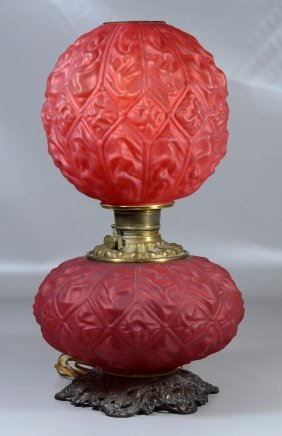 Victorian Plume And Atwood Cranberry Satin Glass Gone