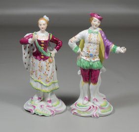 Pair Of Copeland Spode Figurines One Marked Chelsea