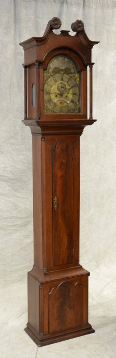 Walnut Chippendale Joseph Wills Tall Case Clock,