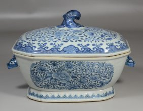 Chinese Export Fitzhugh Variant Tureen With Boar's Head