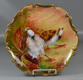 Coronet Limoges Hand Painted Porcelain Charger With 2