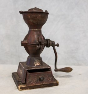 Cast Iron Coffee Grinder By Landers Frary & Clark,