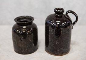 "Pennsylvania Redware Jar 5"" H & Pennsylvania Redware"