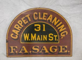 """Painted Wood Trade Sign, Carpet Cleaning, 18"""" X 24"""""""