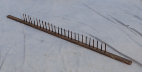 """Primitive Drying Rack, 60"""" L, Ex: Collection Of Irvin &"""