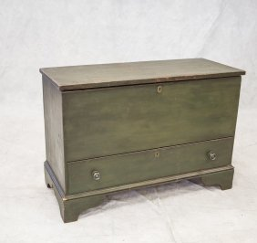 Country Chippendale Bracket Foot Mule Chest, Left Hand