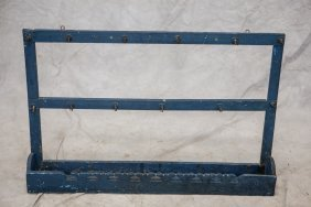 "Herb Drying Rack In Blue, 25""x39"""