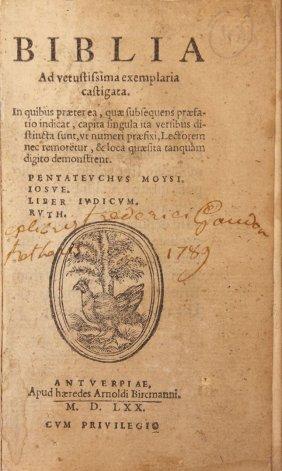 Miniature Tanach In Local Dialect. Belgium 1570