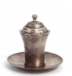 Goblet For Kiddush, Silver. Iraq. 1930 Approximately.