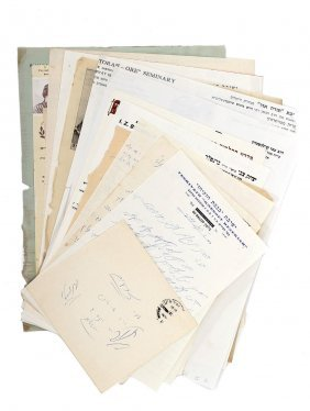 Set Of 19 Letters From Sages Of Israel