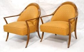 Pr ROBSJOHN GIBBINGS Walnut Arm Lounge Chair. Sab