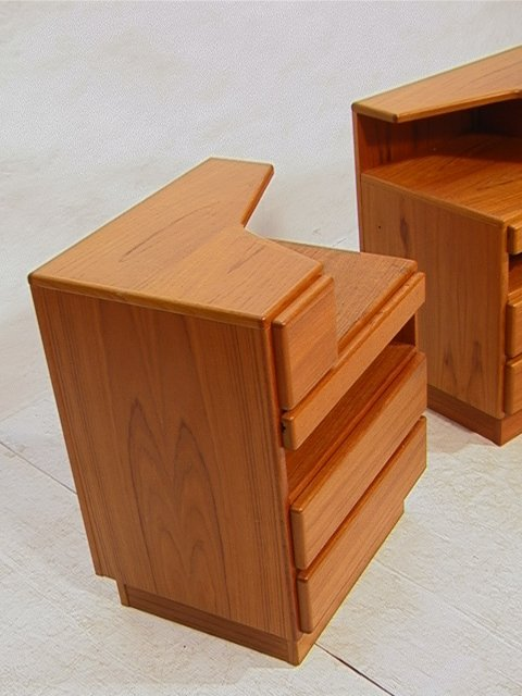 651 pr scan coll danish teak night stands two multi d for Multi night stand