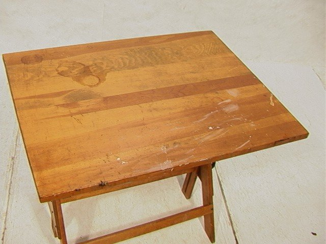 521 Anco Bilt Industrial Wood And Iron Drafting Table Lot 521