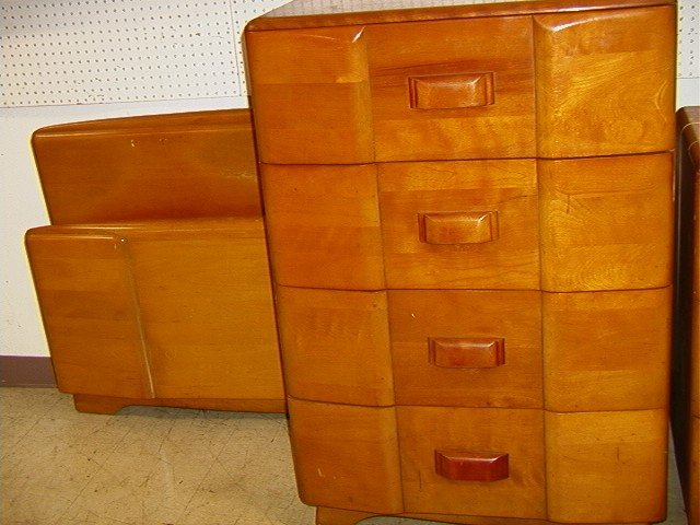 485 heywood wakefield bedroom set high dresser low lot 485