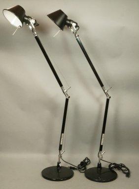 Pr Italian Black Desk Task Lamps. Artemide Tolome