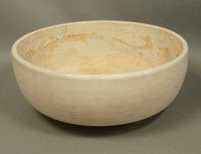 ARCHITECTURAL POTTERY White Pottery Planter. Roun