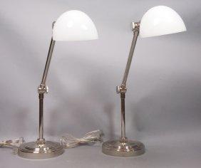 Pr Restoration Hardware Chrome Desk Task Lamps. C