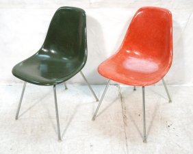 2 Herman Miller Shell Chairs.