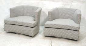 Pair Probber Style Swivel Lounge Chairs. Gray An