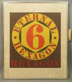 """Robert Indiana Print """"eternal Hexagon 6"""". Missour"""