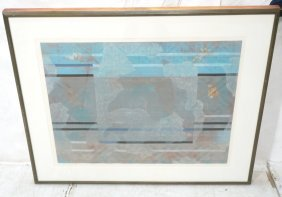 Modernist Abstract Etching Print. Robert Kelly; P