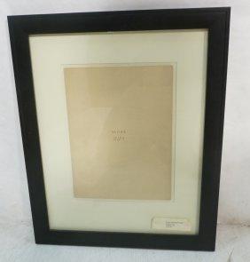 "Wiener Werkstatte ""mode"" Framed Paper (possibly A"