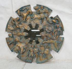 Large Finesse Sculptural Zodiac Fiberglass Wall S