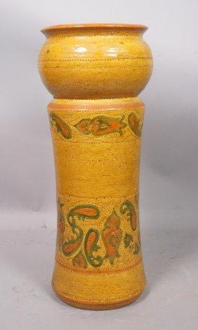 Rosenthal Netter Italian Pottery Vase. Gold Glaze