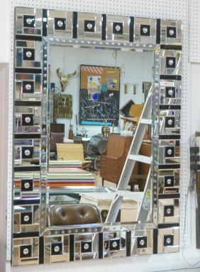 Decorator Wall Mirror With Mirror Tile Frame. Cle