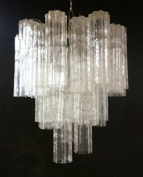 Murano Glass Chandelier Pendant Lamp. Shaped Tub