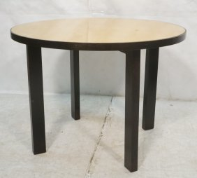 Decorator Modernist Dining Cafe Table. Dark Wood