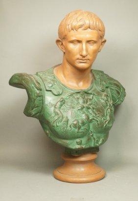 Large Terracotta Bust. Roman Senators. Possibly C