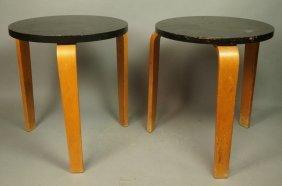 Pr Alvar Aalto Stack Tables Stools. Blond Legs Wi