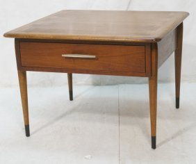 Lane End Table. One Drawer. Marked. Dovetailed D