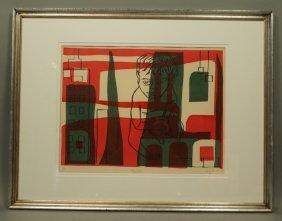 "Wary Burk ""cityscape"" Silkscreen Print. 3 Color"