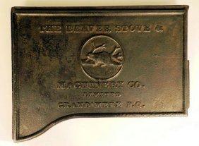 Cast Iron Wood Stove Plaque