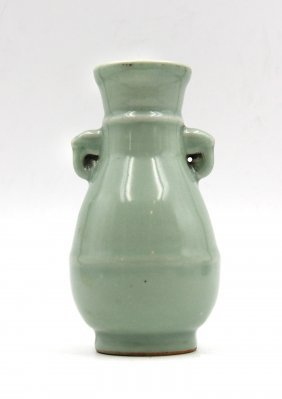 Double-handle Longquan Kiln Vase