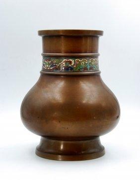 Cloisonne Enamel Bronze Pot