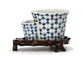 Blue And White Flower Pot