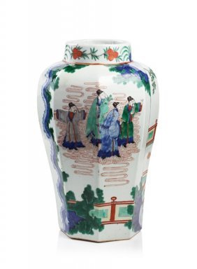 Five-color Painted Porcelain Jar