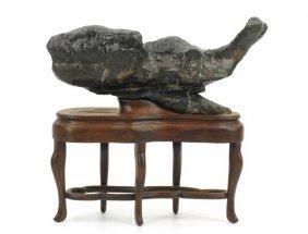 Fish-shaped Lingbi Stone