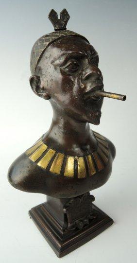 "Metal African ""chieftain"" Cigar Lighter"