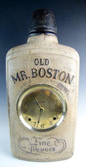 "Old Mr. Boston Advertising ""fine Liquors"" Clock"